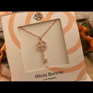 Alicia Bonnie The One Cubic Zirconia Key Necklace